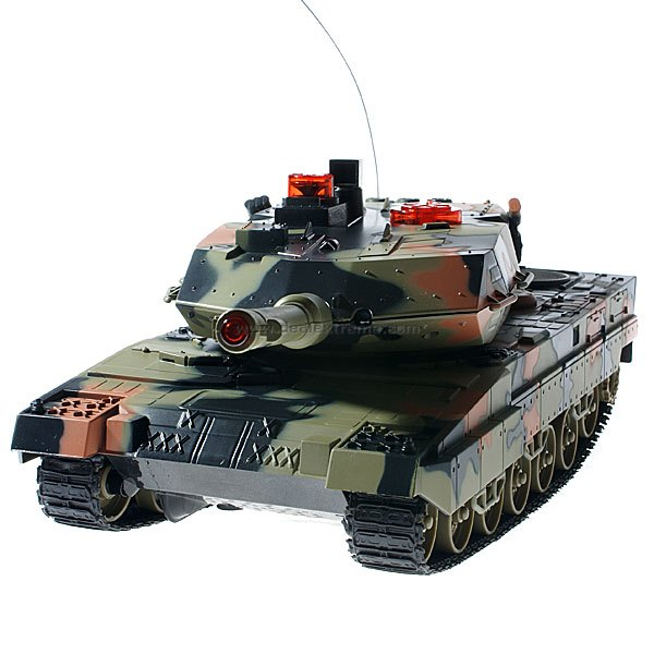 Large 3-CH R/C Battle Tank (11-Inch) Rechargeable