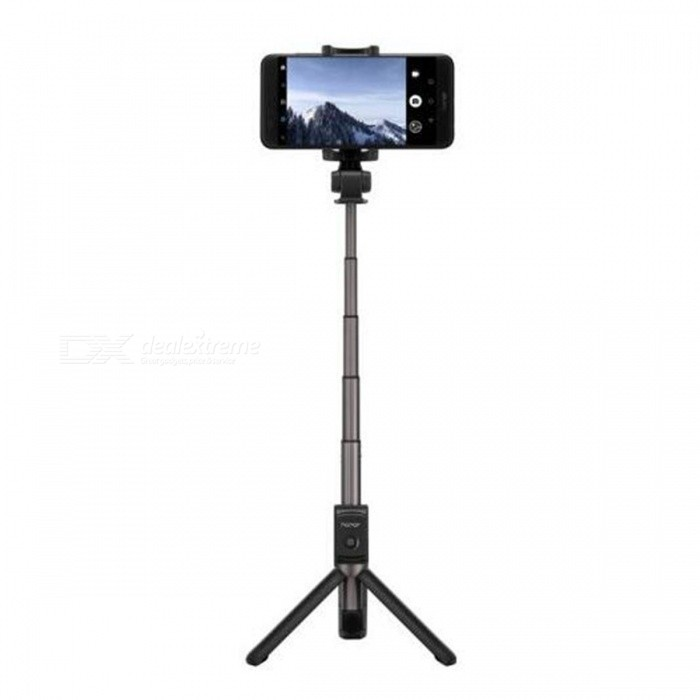 Huawei Honor Bluetooth V3.0 Selfie Stick Tripod 360 Degree RotatableMounts &amp; Holders<br>Form  ColorBlackModel-MaterialAluminium alloy + ABSQuantity1 DX.PCM.Model.AttributeModel.UnitMount TypeFlexibleCompatible ModelsUniversalCompatible Size(inch)4~6 inchesPacking List1 x Selfie Stick1 x Manual<br>