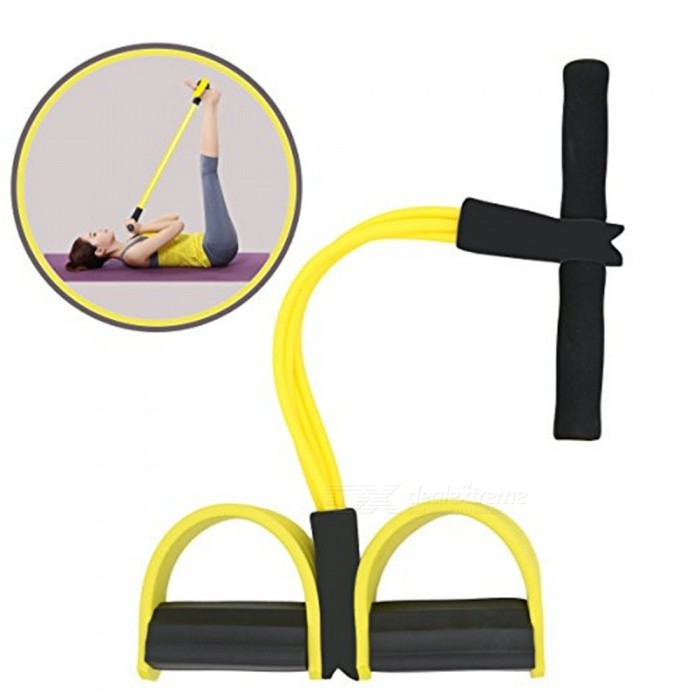 Multifunctional Sit-up Bodybuilding Expander Leg Exerciser Pull RopeForm  ColorYellowModelIME-GSE01Quantity1 DX.PCM.Model.AttributeModel.UnitMaterialNBR green foam + high elastic latex tubeGenderUnisexCertificationCEPacking List1 x Fitness Device<br>