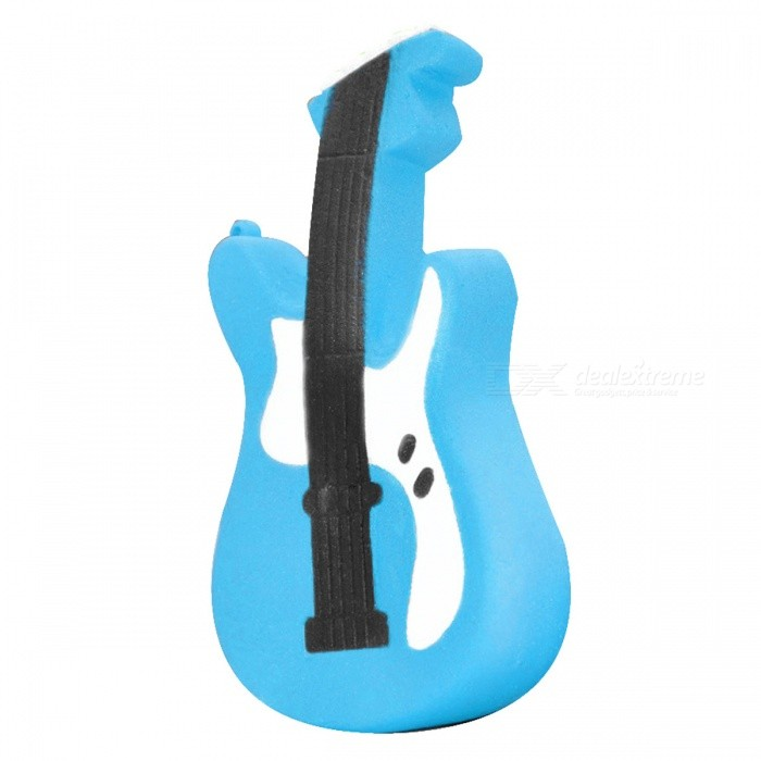 Squishy Guitar Shape Ultra Soft PU Foam Toy - BlueStress Relievers<br>Form  ColorBlue + Black + Multi-ColoredMaterialPUQuantity1 pieceShape StyleGuitarSuitable Age Grown upsPacking List1 x Squishy Toy<br>