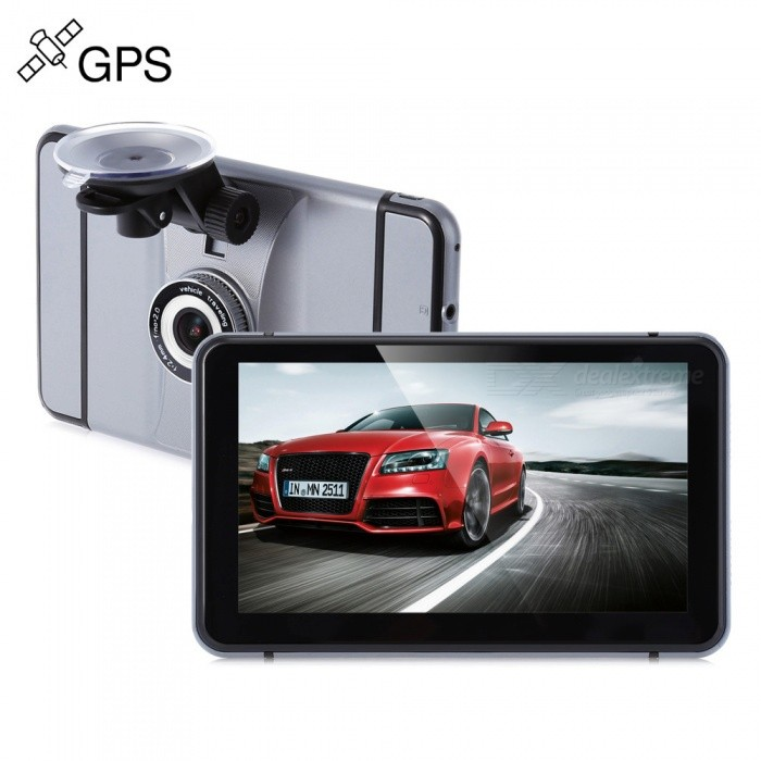 KELIMA 7 Inch 140' Wide Angle Android Car GPS Navigator DVR - Grey