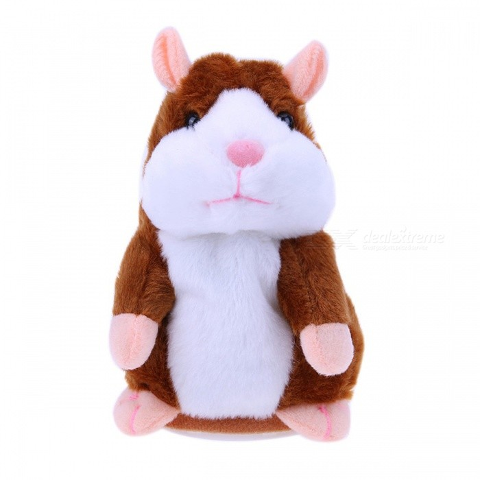 Talking Hamster Toy for Kids Baby - BrownOther Toys<br>Form  ColorBrownModelN/AMaterialPlushQuantity1 pieceSuitable Age 3-4 years,5-7 years,8-11 yearsPacking List1 x Hamster Toy<br>