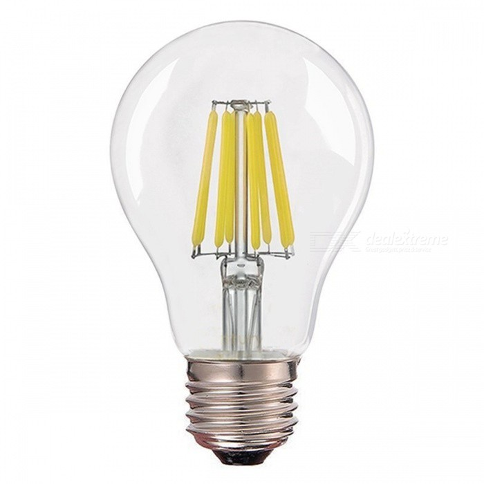 ZHAOYAO E27 8W 220-240V COB LED Glass Lamp Bulb - White LightE27<br>Color BINCold WhiteModelA60-8W-WMaterialGlassForm  ColorWhiteQuantity1 setPower8WRated VoltageAC 220-240 VConnector TypeE27Chip TypeCOBEmitter TypeCOBTotal Emitters8Actual Lumens350-800 lumensColor Temperature12000K,Others,5500-7000KDimmableNoBeam Angle360 °Packing List1 x LED Bulb<br>