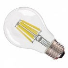 ZHAOYAO E27 8W 220-240V COB LED Glass Lamp Bulb - White Light