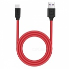 HOCO X11 Type-C 5A Fast Charge Data Charging Cable - Black + Red
