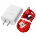 BTY M521A QC3.0 Fast US Plug Charger with 1m Micro USB Data Cable