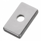 25 * 15 * 5mm Rectangle NdFeB Magnets w/ Sink Hole - Silver (10 PCS)