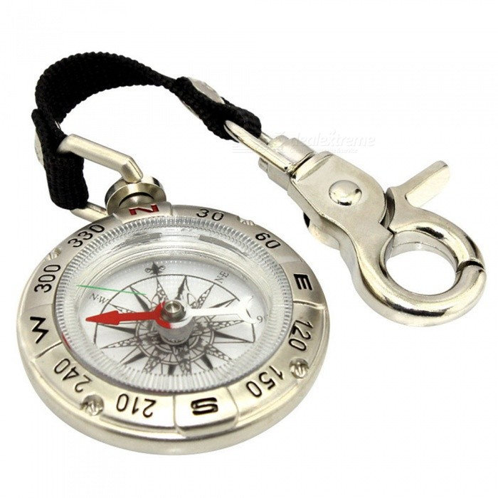 OJADE Outdoor Portable Multi-function Mini Metal Keychain CompassCompasses<br>Form  ColorBlack + SilverQuantity1 DX.PCM.Model.AttributeModel.UnitMaterialMetalAnalog or DigitalAnalogRulerNoPacking List1 x Compass<br>