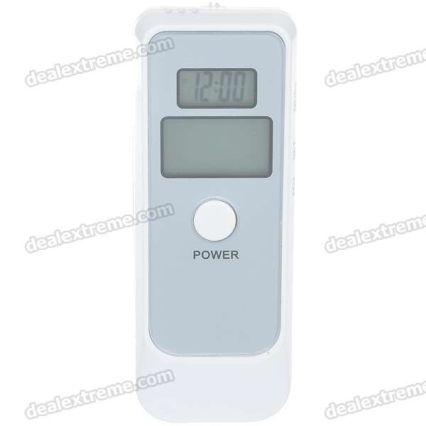 Dual LCD Digital Alcohol Breath Tester with Time/Temperature/Alarm (1*AG13 + 2*AAA)