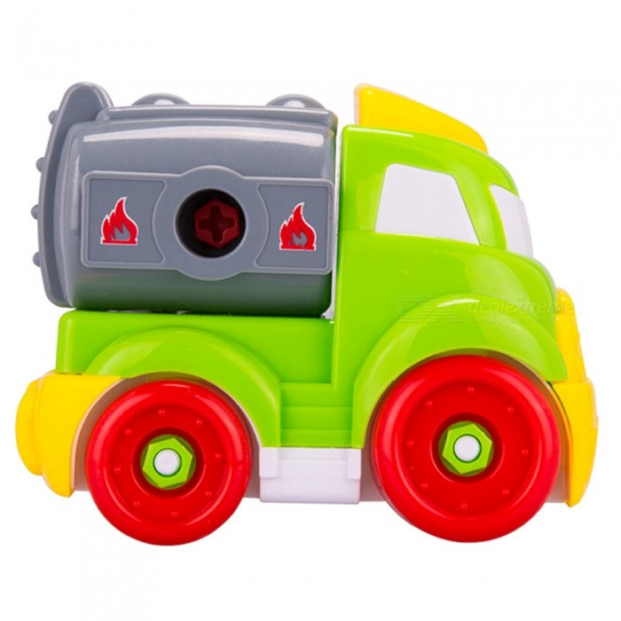 DIY Engineering Vehicles Toy for KidsBlocks &amp; Jigsaw Toys<br>Form  ColorRed + Yellow + Multi-ColoredMaterialPlasticQuantity1 DX.PCM.Model.AttributeModel.UnitNumber24Suitable Age 0-3 months,3-6 monthsPacking List1 x Engineering vehicle1 x Wrench1 x Screwdriver<br>