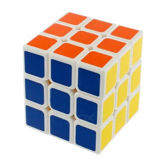 Cyclone Boys 40mm 3x3 Smooth Speed Magic Cube Puzzle Toy for Kids - White