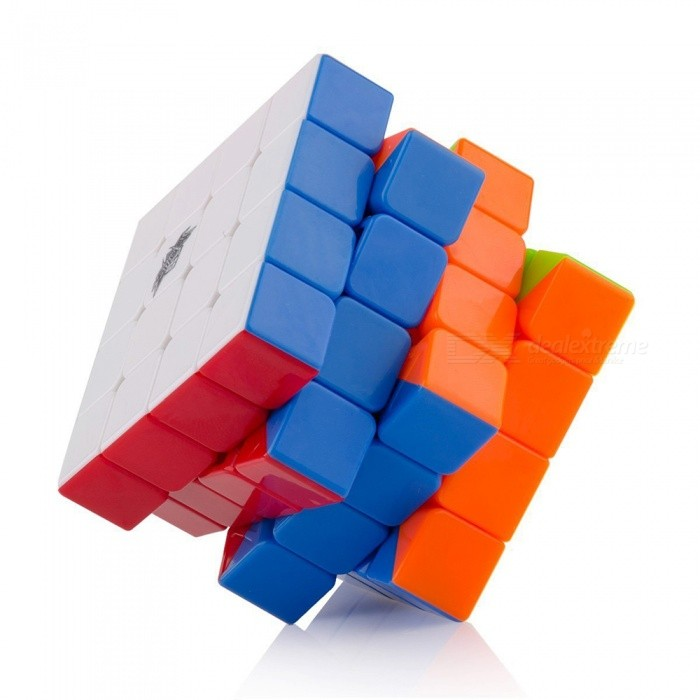Cyclone Boys 62mm 4x4x4 Stickerless Speed Magic Cube Puzzle Toy for Kids - Multicolour