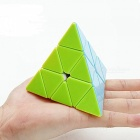 Cyclone Boys 100mm Pyraminx Smooth Speed Magic Cube Puzzle Toy for Kids - Multicolour