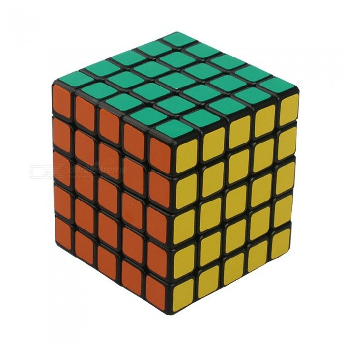Cyclone Boysg 63mm 5x5 Smooth Speed Magic Cube Puzzle Toy for Kids - Black