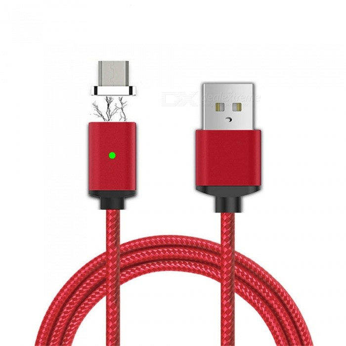 Cwxuan Micro USB Detachable Magnetic Braided Woven Charging Data Cable for Samsung / Huawei / Xiaomi - Red (1m)Cables<br>Form  ColorRed (Micro USB Port)MaterialAluminum alloy + nylon braidedQuantity1 DX.PCM.Model.AttributeModel.UnitCompatible ModelsHuawei, Xiaomi, LG, Nokia, Samsung, HTCCable Length100 DX.PCM.Model.AttributeModel.UnitConnectorMicro USBPacking List1 x Magnetic cable (100cm±2cm)1 x Micro USB Metal port<br>
