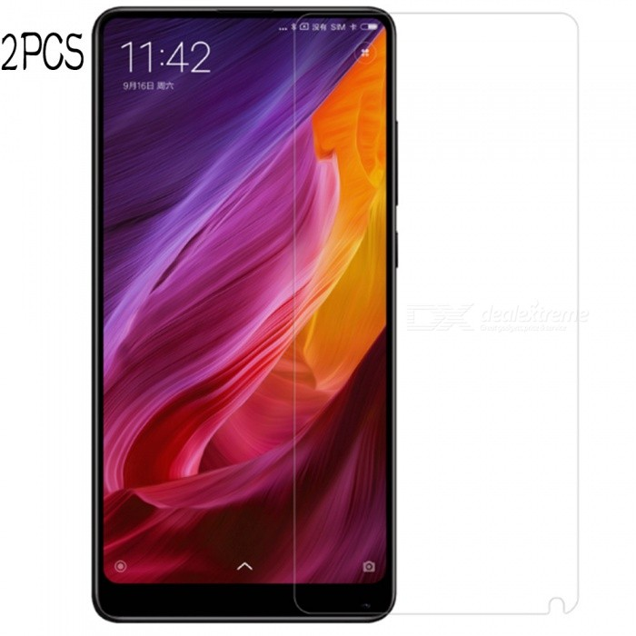 Naxtop Tempered Glass Screen Protector Film for Xiaomi Mi Mix 2 - 2PCSScreen Protectors<br>Form  ColorTransparent (2PCS)Screen TypeGlossyModelN/AMaterialTempered GlassQuantity1 DX.PCM.Model.AttributeModel.UnitCompatible ModelsXiaomi Mi Mix 2Features2.5D,Fingerprint-proof,Scratch-proof,Tempered glassPacking List2 x Tempered glass films2 x Wet wipe2 x Dry wipe2 x Dust absorber<br>