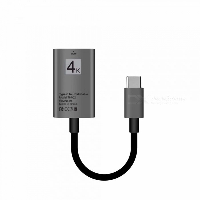 USB 3.1 Type-C USB-C to HDMI 4K 30Hz HD Cable Converter - BlackAV Adapters And Converters<br>Form  ColorBlackMaterialABSQuantity1 DX.PCM.Model.AttributeModel.UnitShade Of ColorBlackCable Length20 DX.PCM.Model.AttributeModel.UnitConnectorHDMI,Others,USB 3.1 Type-CPacking List1 x Video Cable<br>
