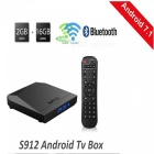 M92S Amlogic S912 Octa-Core Android 7.1 TV BOX s 2GB RAM, 16GB ROM (US Plug)