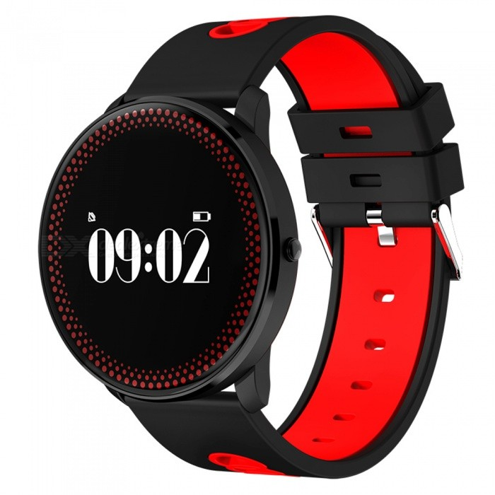 Ravi Round Screen Smart Watch with Heart Rate Blood Pressure Monitor - RedSmart Watches<br>Form  ColorRedQuantity1 DX.PCM.Model.AttributeModel.UnitMaterialZinc Alloy + Silica gelShade Of ColorRedCPU ProcessorNRF51822Screen Size0.96 DX.PCM.Model.AttributeModel.UnitScreen Resolution128*64Touch Screen TypeOthers,OLEDBluetooth VersionBluetooth V4.0Compatible OSAndroid 4.0 and above, IOS 7.0 and aboveLanguageEnglishWristband Length25.4 DX.PCM.Model.AttributeModel.UnitWater-proofOthers,Life WaterproofBattery ModeReplacementBattery TypeLi-polymer batteryBattery Capacity80 DX.PCM.Model.AttributeModel.UnitStandby Time15 DX.PCM.Model.AttributeModel.UnitPacking List1 x Smart Watch1 x Charging Cable1 x User Manual<br>