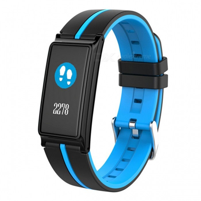 B5 Color Screen Bluetooth Smart Bracelet with Heart Rate Monitor - BlueSmart Bracelets<br>Form  ColorBlue + BlackQuantity1 setMaterialABSShade Of ColorBlueWater-proofIP67Bluetooth VersionBluetooth V4.0Touch Screen TypeYesCompatible OSAndroid 4.4 and above, iOS 8.0 or above, support for Bluetooth 4.0Battery Capacity90 mAhBattery TypeLi-polymer batteryStandby Time25 daysPacking List1 x B5 Smart Bracelet1 x Charger1 x User Manual<br>