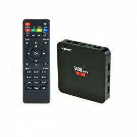 V88 Mini III Android 6.0 Quad-Core Bluetooth V4.0 Wi-Fi 4K HD Smart TV Box Media Player with 2GB RAM, 8GB ROM (EU Plug)