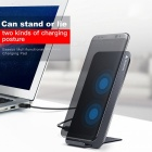 Baseus Fast Qi Wireless Charger Charging Station with Type-C Interface - Black