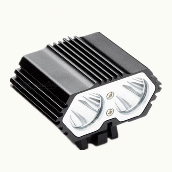 ZHAOYAO Portable Dual T6 LED Head 4-Mode USB Charging Bike LightBike Lights<br>Form  ColorBlackModelT6Quantity1 DX.PCM.Model.AttributeModel.UnitMaterialAluminium alloyEmitter BrandCreeLED TypeXM-L2Emitter BINT6Number of Emitters2Color BINWhiteWorking Voltage   3.7 DX.PCM.Model.AttributeModel.UnitPower Supply4*18650Current3 DX.PCM.Model.AttributeModel.UnitTheoretical Lumens2000 DX.PCM.Model.AttributeModel.UnitActual Lumens1700 DX.PCM.Model.AttributeModel.UnitRuntime10 DX.PCM.Model.AttributeModel.UnitNumber of Modes4Mode ArrangementHi,Mid,Low,Slow StrobeMode MemoryNoSwitch TypeOthers,Clicky SwitchLensGlassReflectorPlastic SmoothFlashlight MountingHandlebarSwitch LocationTailcapBeam Range200-400 DX.PCM.Model.AttributeModel.UnitPacking List1 x LED head lamp1 x charging Cable<br>