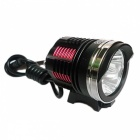 ZHAOYAO XM-L2 T6 3-LED 4-Mode USB Charging Bike Front Light - Black