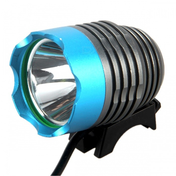 ZHAOYAO XM-L2 T6 Super Bright 3-Mode USB Charging Bicycle Headlight - BlueBike Lights<br>Form  ColorBlue + Grey + Multi-ColoredModelT6Quantity1 DX.PCM.Model.AttributeModel.UnitMaterialAluminium alloyEmitter BrandCreeLED TypeXM-L2Emitter BINT6Number of Emitters1Color BINWhiteWorking Voltage   3.7 DX.PCM.Model.AttributeModel.UnitPower Supply4*18650Current4 DX.PCM.Model.AttributeModel.UnitTheoretical Lumens1200 DX.PCM.Model.AttributeModel.UnitActual Lumens1200 DX.PCM.Model.AttributeModel.UnitRuntime2-5 DX.PCM.Model.AttributeModel.UnitNumber of Modes3Mode ArrangementHi,Low,Slow StrobeMode MemoryNoSwitch TypeForward clickyLensGlassReflectorAluminum SmoothFlashlight MountingHandlebarSwitch LocationTailcapBeam Range200-400 DX.PCM.Model.AttributeModel.UnitPacking List1 x LED headlight1 x Lamp base fittings1 x Rechargeable package1 x USB cable<br>