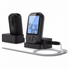 Digital Meat BBQ Thermometer for Wireless Kitchen Oven - Black
