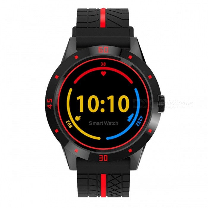 N6 Sports Bluetooth Smart Watch with Remote Camera Control Heart Rate Monitoring Pedometer Fitness Tracker - Black + RedSmart Watches<br>Form  ColorBlack + RedModelN6Quantity1 pieceMaterialABSShade Of ColorBlackCPU ProcessorMTK2502CScreen Size1.3 inchScreen Resolution240*240Touch Screen TypeYesBluetooth VersionBluetooth V4.0Compatible OSBT3.0/BT4.0, Support Android &amp; iOSLanguageSimplified Chinese, German, English, Spanish, French, Italian, Polish, Portuguese, Turkish, Dutch,Russian, Hebrew, Arabic, Romania, HungarianWristband Length22 cmWater-proofNoBattery ModeNon-removableBattery TypeLi-polymer batteryBattery Capacity230 mAhStandby Time5-7 daysPacking List1 x N6 Smart Watch1 x Charging Cable1 x User Manual<br>