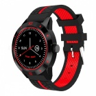 N6 Sports Bluetooth Smart Watch with Remote Camera Control Heart Rate Monitoring Pedometer Fitness Tracker - Black + Red