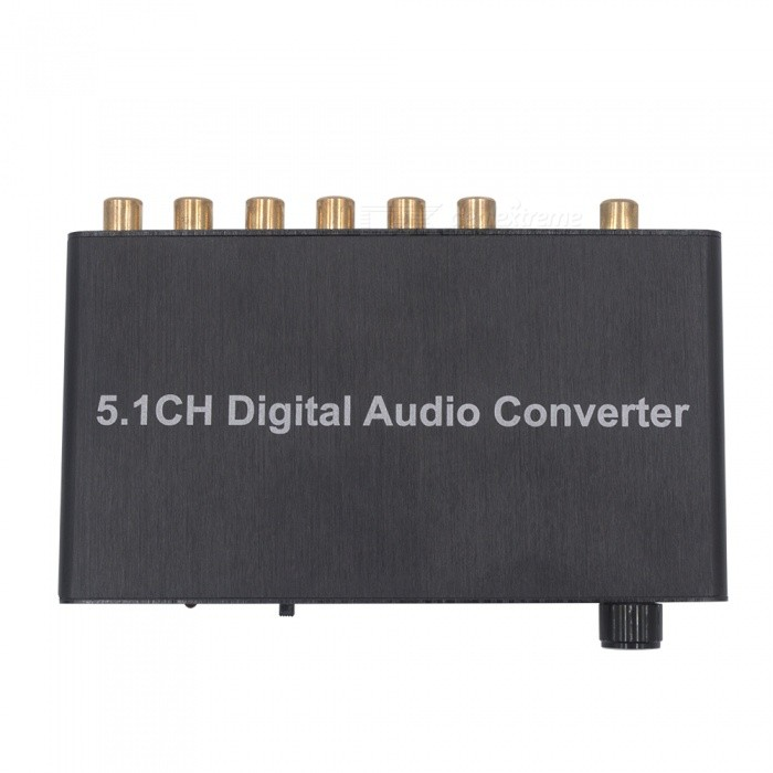 AY77 AC3/DTS 5.1CH Audio Gear Digital Sound Decoder (US Plug)AV Adapters And Converters<br>Form  ColorBlackMaterialAluminum alloyQuantity1 DX.PCM.Model.AttributeModel.UnitShade Of ColorBlackConnectorMicro USB,RCA,ToslinkPower AdapterUS PlugPacking List1 x AC3/DTS 5.1 Audio Gear Digital Sound Decoder SPDIF1 x High Quality Optical Fiber Cable1 x US Plug Power adapter (DC 5V)1 x User manual<br>
