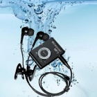 KELIMA Sports Waterproof Clip-on Lossless Music MP3 Player with Earphones - Black (4GB)