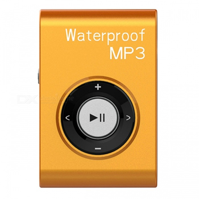 KELIMA Sports Waterproof Clip-on Lossless Music MP3 Player with Earphones - Orange (4GB)MP3 Players<br>Form  ColorOrangeBuilt-in Memory / RAM4GBModelB-306Quantity1 pieceMaterialABSShade Of ColorOrangeScreen TypeOthersTouch Screen TypeNoScreen Size0 cmMemory Card TypeNoMax Extended Capacity4GBAudio Compression FormatMP3ImagesOthersE-bookOthersFM Frequency87-108MHzHeadphone Jack3.5mmOther InterfaceUSBBattery Capacity150 mAhWorking Time8-10 hourBattery TypeLi-ion batteryPower Supply5VPower AdapterUSBLoud Speaker Function NoLyrics DisplayNoAudio ModeOthers,NODisplay ModeNatural rock and so onOther FeaturesWaterproof: IPX8; System supported: XP, Win7, Win8 etc.; MP3 charging time: Approx. 2 hoursPacking List1 x Waterproof MP31 x Earphones1 x USB Cables1 x Manual<br>