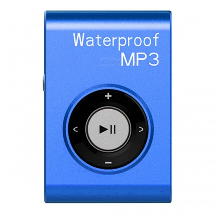 KELIMA Sports Waterproof Clip-on Lossless Music MP3 Player with Earphones - Blue (4GB)MP3 Players<br>Form  ColorBlueBuilt-in Memory / RAM4GBModelB-306Quantity1 pieceMaterialABSShade Of ColorBlueScreen TypeOthersTouch Screen TypeNoScreen Size0 cmMemory Card TypeNoMax Extended Capacity4GBAudio Compression FormatMP3ImagesOthersE-bookOthersFM Frequency87-108MHzHeadphone Jack3.5mmOther InterfaceUSBBattery Capacity150 mAhWorking Time8-10 hourBattery TypeLi-ion batteryPower Supply5VPower AdapterUSBLoud Speaker Function NoLyrics DisplayNoAudio ModeOthers,NODisplay ModeNatural rock and so onOther FeaturesWaterproof: IPX8; System supported: XP, Win7, Win8 etc.; MP3 charging time: Approx. 2 hoursPacking List1 x Waterproof MP31 x Earphones1 x USB Cables1 x Manual<br>