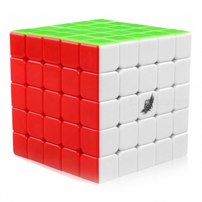 Cyclone Boys 63mm 5x5x5 Stickerless Speed Magic Cube Puzzle Toy for Kids - Multicolour