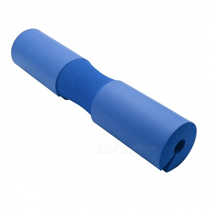 New Weightlifting Barbell Support Pad - BlueForm  ColorBlueModelN/AQuantity1 pieceMaterialNBRGenderUnisexScreen Size- cmPowered ByOthers,NoPacking List1 x Barbell Pad<br>