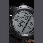 SANDA Sports 30M Waterproof Movement Timekeeping Watch - Black + White