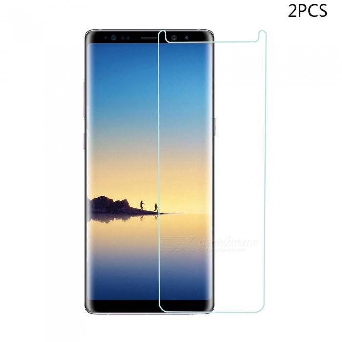 Mini Smile Tempered Glass Screen Protector Film for Samsung Galaxy Note 8 (2 PCS)Screen Protectors<br>Form  ColorTransparentScreen TypeGlossyModelN8-TPMaterialTempered GlassQuantity1 setCompatible ModelsSamsung Galaxy Note 8Features2.5D,Fingerprint-proof,Scratch-proof,Tempered glassPacking List2 x Screen protectors2 x Wipes2 x Dust stickers2 x Wet wipes<br>