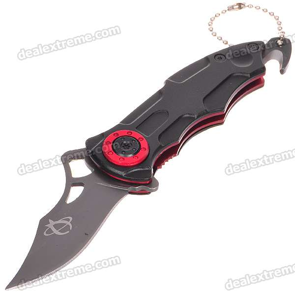 Stainless Steel Manual-Release Folding Pocket Knife (15.5cm Full-Length)