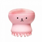 MAIKOU Small Octopus Shape Silicone Cleaning Brush, Facial Cleaning Massager - Pink