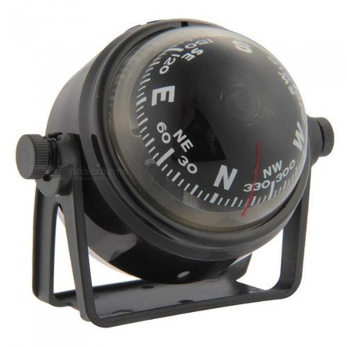 OJADE Marine Boat Truck Car Dashboard Dash Mount Pivoting Compass - BlackCompasses<br>Form  ColorBlackQuantity1 setMaterialABSAnalog or DigitalAnalogRulerNoPacking List1 x Compass<br>