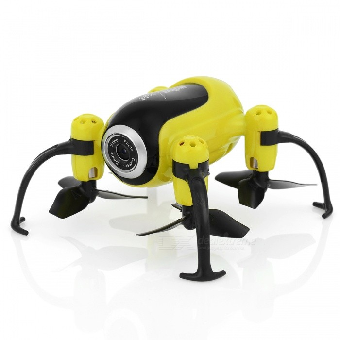 UDIR/C i150HW Fixed Height Version Mini Quadcopter Aerial Vehicle with Camera, Customized Route Mode - Yellow