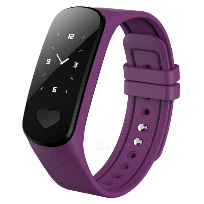 B9 IP67 Waterproof ECG Monitoring Smart Bracelet Wristband - PurpleSmart Bracelets<br>Form  ColorPurple + BlackModelB9Quantity1 DX.PCM.Model.AttributeModel.UnitMaterialABSShade Of ColorPurpleWater-proofIP67Bluetooth VersionBluetooth V4.0Touch Screen TypeYesCompatible OSAndroid system 4.4 version or above; iOS system 8.0Battery Capacity80 DX.PCM.Model.AttributeModel.UnitBattery TypeLi-polymer batteryStandby Time5-7 DX.PCM.Model.AttributeModel.UnitPacking List1 x Smart Bracelet1 x User Manual<br>