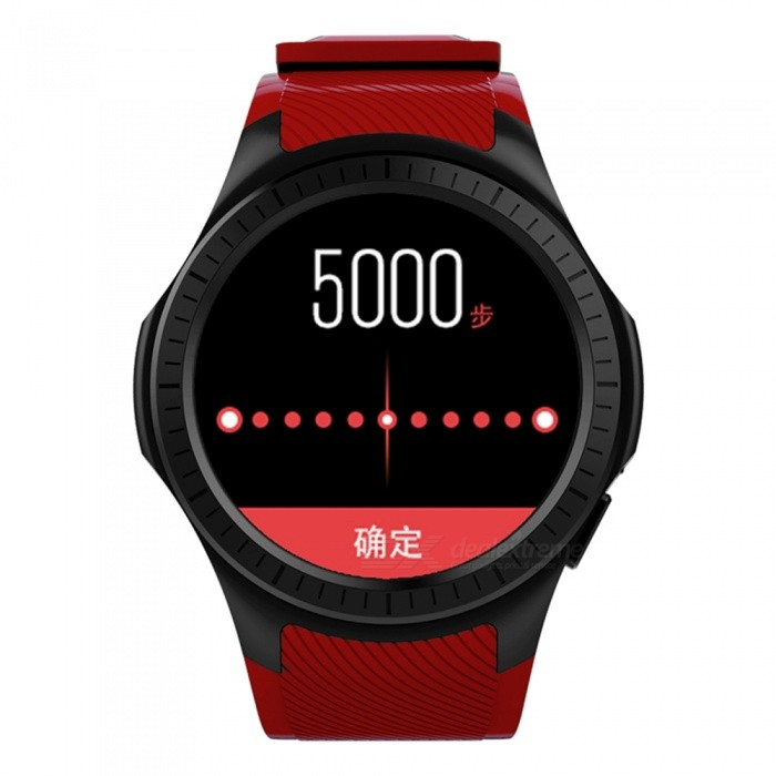 L1 Bluetooth Smart Watch with Blood Pressure Heart Rate Monitor, GPS - RedSmart Watches<br>Form  ColorRed + BlackModelL1Quantity1 setMaterialABSShade Of ColorRedCPU ProcessorMTK 2503Screen Size1.3 inchScreen Resolution240*240Touch Screen TypeYesBluetooth VersionBluetooth V4.0Compatible OSPerfectly support both IOS and Android OSLanguageEnglish, French, German, Spanish, Portuguese, Italian, Netherlands, Russian, Polish, Turkish, Thai, Veit Nam, India, Indonesian, ArabiWristband Length22 cmWater-proofIP65Battery ModeNon-removableBattery TypeLi-polymer batteryBattery Capacity480 mAhStandby Time5-7 daysPacking List1 x Smart watch 1 x USB Cable 1 x Manual<br>