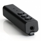 Stylish Car Bluetooth Wireless Music Audio Receiver with Clip - Black