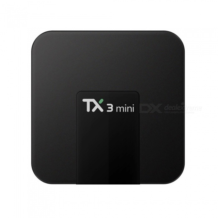 TX3 Mini Android 7.1.2 Smart TV Box Player with 1GB RAM, 16GB ROM - EU PlugSmart TV Players<br>Form  ColorBlackBuilt-in Memory / RAM1GBStorage16GBPower AdapterEU PlugModelTX3 MiniQuantity1 pieceMaterialPlasticShade Of ColorBlackOperating SystemOthers,Android7.1.2ChipsetAmlogic S905WCPUOthers,ARM Cortex A53 @2GHzProcessor FrequencyMax 2GhzGPUPenta-core Mali-450MP GPU @750MHzMenu LanguageEnglish,French,German,Italian,Spanish,Portuguese,Russian,Japanese,Korean,Chinese Simplified,Chinese TraditionalRAM/Memory TypeDDR3 SDRAMMax Extended Capacity64GBSupports Card TypeMicroSD (TF)External HDD2TBWi-Fi802.11b/g/nBluetooth VersionNo3G FunctionNoWireless Keyboard/Mouse2.4GhzAudio FormatsMP3,WMA,APE,FLAC,OGG,AC3,DTS,AACVideo FormatsRM,RMVB,AVI,DIVX,MKV,MOV,HDMOV,MP4,M4V,PMP,AVC,FLV,VOB,MPG,DAT,MPEG,H.264,MPEG1,MPEG2,MPEG4,WMV,TP,CD,VCD,DVD,BD,H.265Audio CodecsDTS,AC3,LPCM,FLAC,HE-AACVideo CodecsMPEG-1,MPEG-2,MPEG-4,H.264,VC-1,H.265Picture FormatsJPEG,BMP,PNG,GIF,TIFF,jps(3D),mpo(3D)Subtitle FormatsMicroDVD [.sub],SubRip [.srt],Sub Station Alpha [.ssa],Sami [.smi]idx+subPGSOutput Resolution4KHDMI2.0Audio OutputHDMI, AVVideo OutputHDMI, AVUSBUSB 2.0Power Supply100-240VCompatible ApplicationFacebook,Youtube,Skype,Netflix,XBMC,HuluPacking List1 x TX3 Mini TV Box1 x HDMI Cable 1 x Remote Control1 x Power Adapter 1 x English User Manual<br>