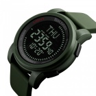 SKMEI 1289 Men's 50M Waterproof Digital Sports Compass Watch with EL Light - Army Green