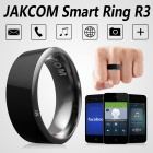 Jakcom R3 Smart Ring Electronic CNC Metal Mini Magic Ring with IC / ID / NFC Card Reader for NFC Mobile Phones - Black (Size 7)